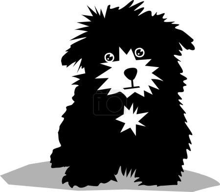 Illustration for Funny black dog - Royalty Free Image