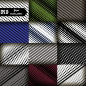 Set of 12: Seamless pattern with diagonal lines