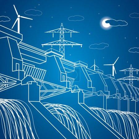 Vector hydro power plant, vector lines station, ne...