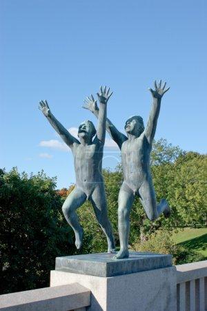 Photo pour C'est une des sculptures de Vigeland Park, Oslo, Norway. - image libre de droit