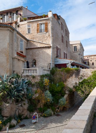 the old town of french riviera
