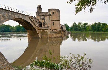 The arch of a bridge