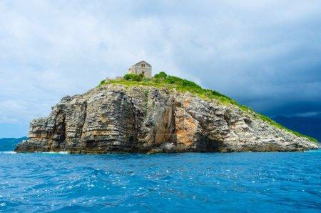 The rocky island