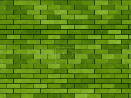 "Background green ""A brick wall"""