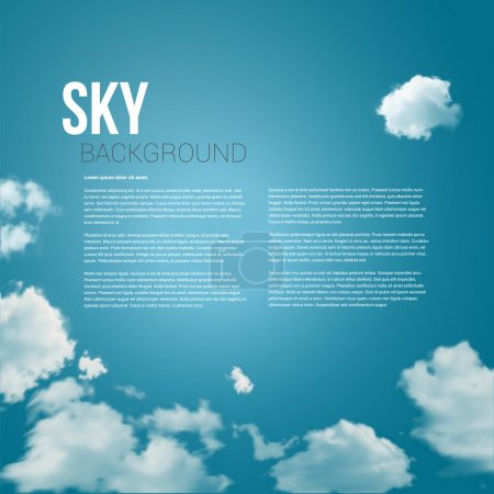 Sky with clouds page layout for Your business presentation.