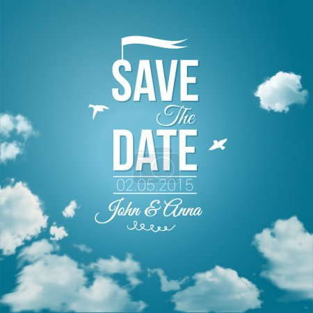 Save the date for personal holiday. Wedding invitation.