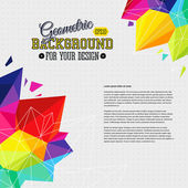 Geometric background with bright triangle elements and place for Your text Vector illustration