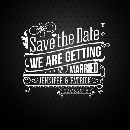 Illustration for Save the date for personal holiday. Wedding invitation. - Royalty Free Image