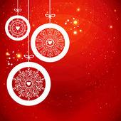 Stylizované vánoční koule s sněhové vločky. vektorové ilustrace