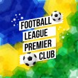 Soccer football poster. Mosaic background in Brazi...