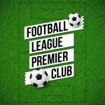 Soccer football poster. Soccer football field back...