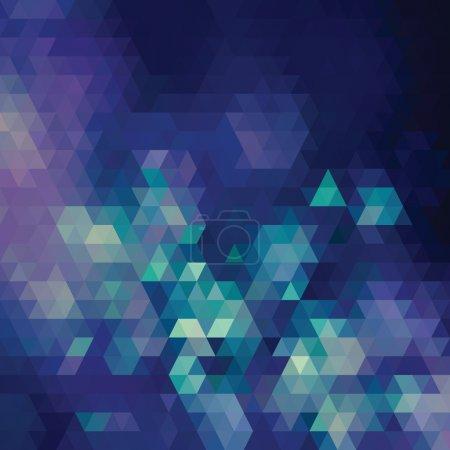 Photo pour Fond géométrique rétro. Triangles multicolores. Effet Bokeh . - image libre de droit