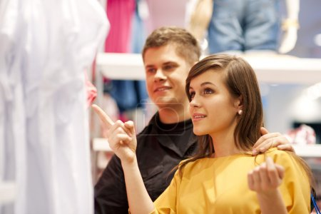 Photo for Happy couple doing shopping - Royalty Free Image