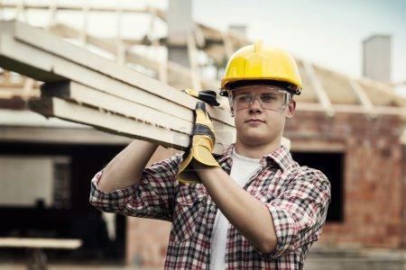 Photo pour Travailleur de la construction - image libre de droit