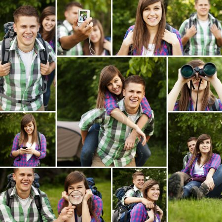 Photo for Young couple hiking - Royalty Free Image