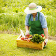 Senior woman with vegetable