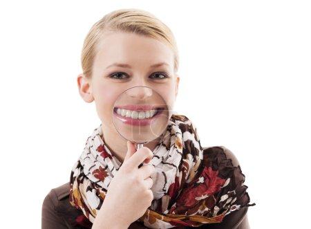 Photo pour Gros sourire de dents - image libre de droit