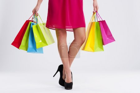 Photo for Woman with shopping bags - Royalty Free Image