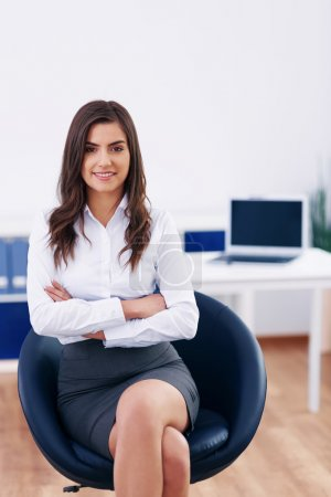 Photo for Young businesswoman in office - Royalty Free Image