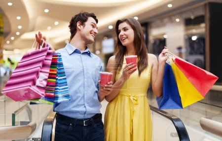 Photo for Date in the shopping mall - Royalty Free Image