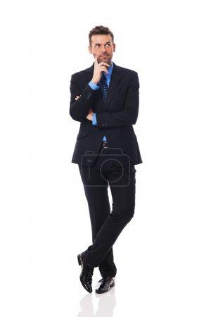 Businessman thinking about something
