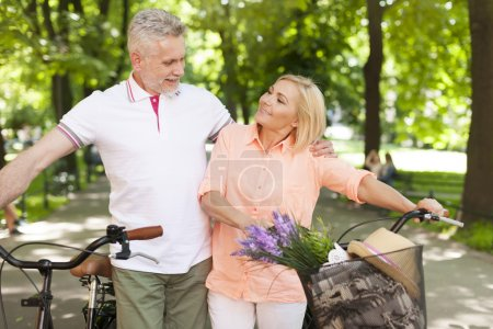 Mature couple spending time together