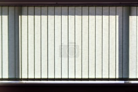 Modern vertical blinds on the window