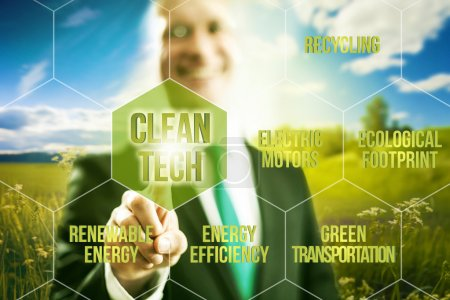 Clean technology concept