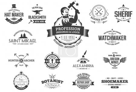 Retro profession badges