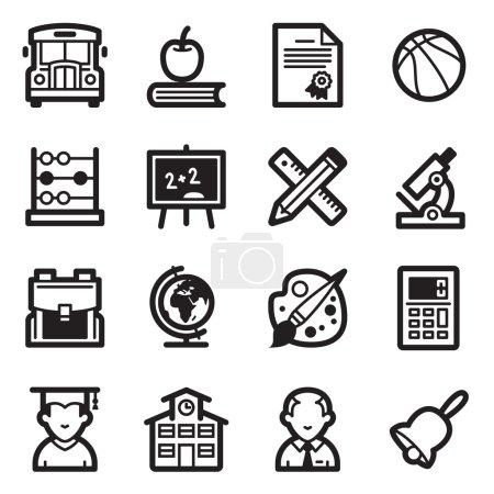 Education Icons Set 1 - Simpla Series