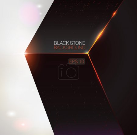 Illustration for Black stone background. Vector illustration. - Royalty Free Image