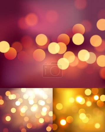 Illustration for Set of three photo realistic bokeh lights - Royalty Free Image