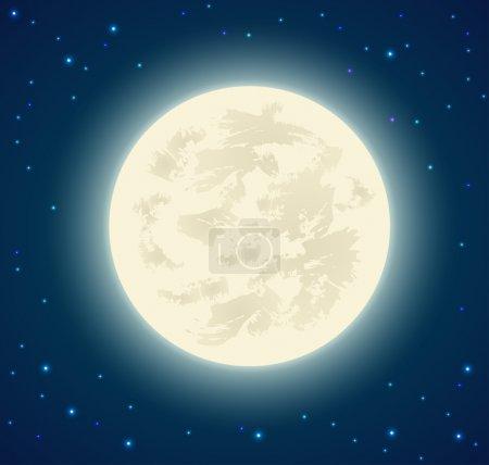 Illustration pour Fond de pleine lune - image libre de droit