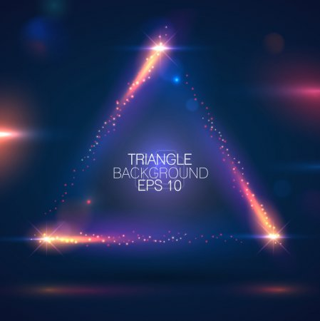 Illustration for Sparkling triangle shape background - Royalty Free Image