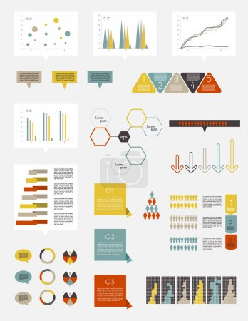Illustration for Collection of infographics elements. - Royalty Free Image