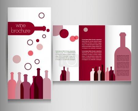 Illustration pour Flyer carte des vins . - image libre de droit