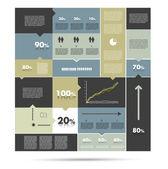 Sale box diagram for infographics Speech bubbles chart