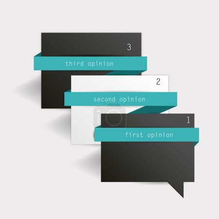Simple diagram for infographics. Modern design template. Minimalistic vector banner.