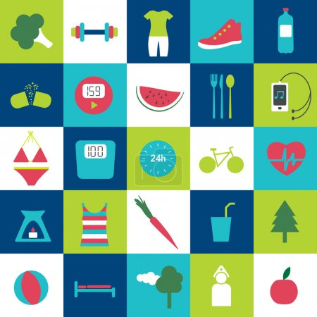 Modern fitness and health life stale icon. Loss weight motive.