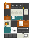 Modern infographic box diagram can be used for annual report Web or print banner template Simply minimalistic option graphics design Vector illustration