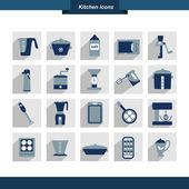 Sada kuchyňské nástroje. kolekce vaření nástroje. obrazce lze použít pro leták menu restaurace. vektor ilustrátor designu