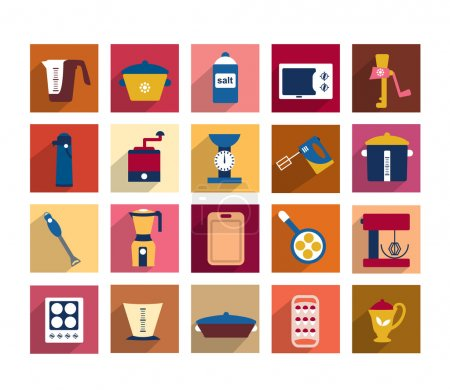 Kitchen instrument set. Collection of cooking tools. Shapes can be used for restaurant menu flyer. Vector illustrator design.