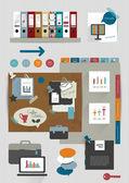 Legen Sie Elemente der Infografiken für Office-Web-Vorlage