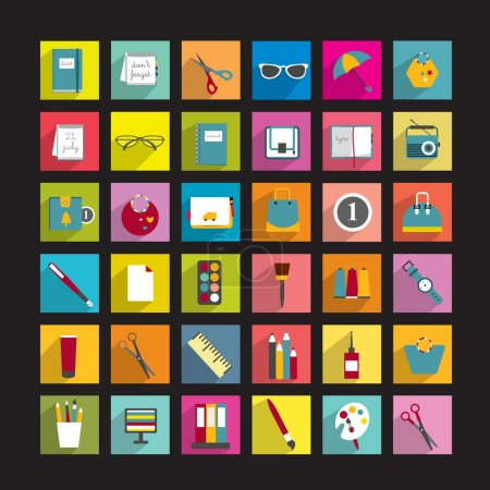 Collection of various icons.