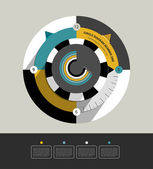 Circle infographic diagram Modern flat round scheme for print or web page Trend brand color layout