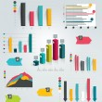 Big set of infographic charts. Vector....