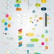 Big collection of timeline template. Vector infogr...