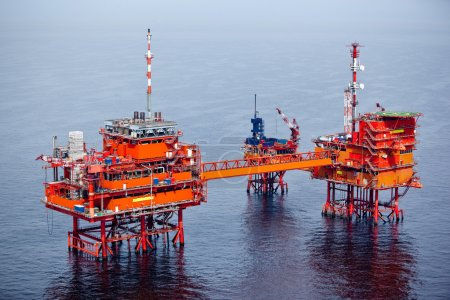 Photo for Offshore drilling for oil - Royalty Free Image