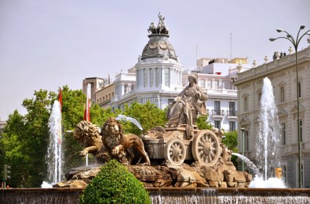Photo for Cibeles Fountain on Plaza de Cibeles in Madrid, Spain - Royalty Free Image