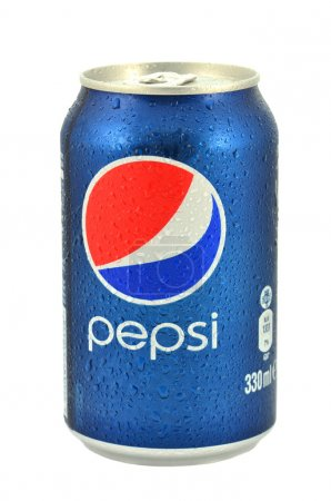 Can of Pepsi drink isolated